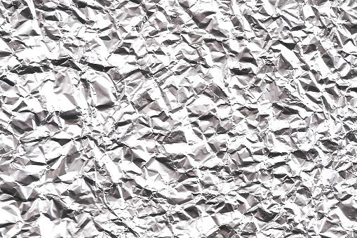 Crumpled Aluminum Foil Texture - Wide Background