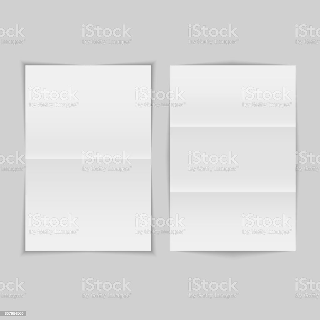 Crumpled folded pieces of paper set. Vector illustration vector art illustration