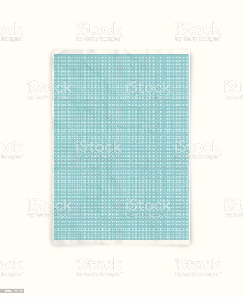 Crumpled graph paper royalty-free stock vector art