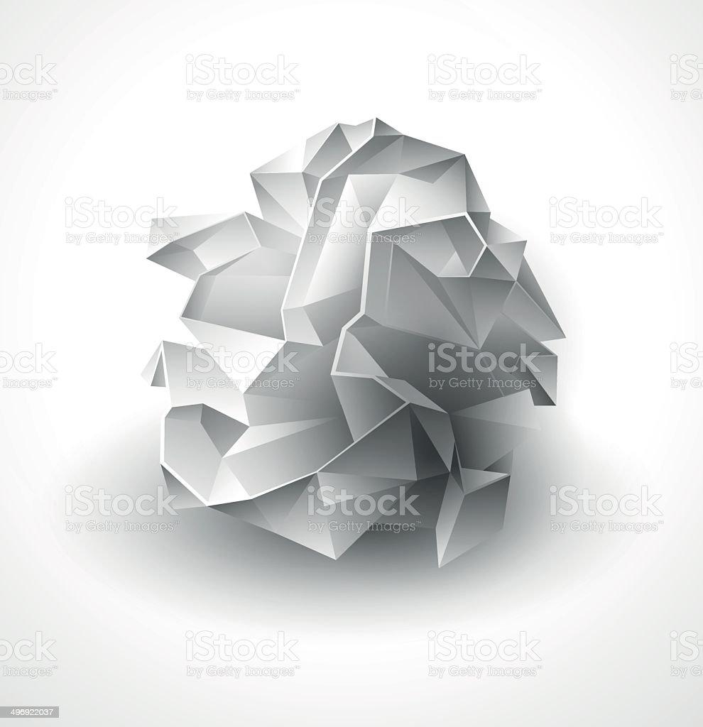 crumpled paper ball stock vector art & more images of broken