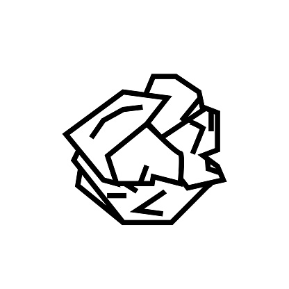 Crumpled Paper icon, vector illustration
