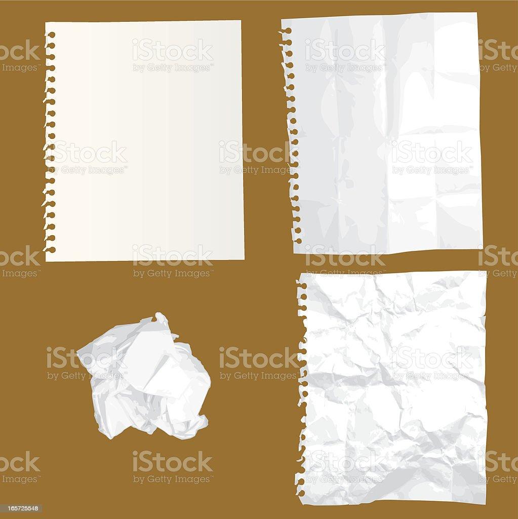 Crumpled Paper in Vector royalty-free stock vector art