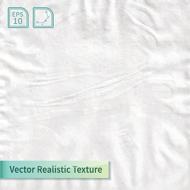 Faltig Papier Blatt.   Einwickelpapier Struktur. – Vektorgrafik