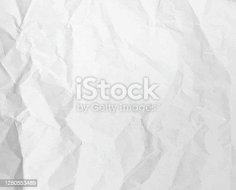 istock Crumpled Paper Texture 1250553489