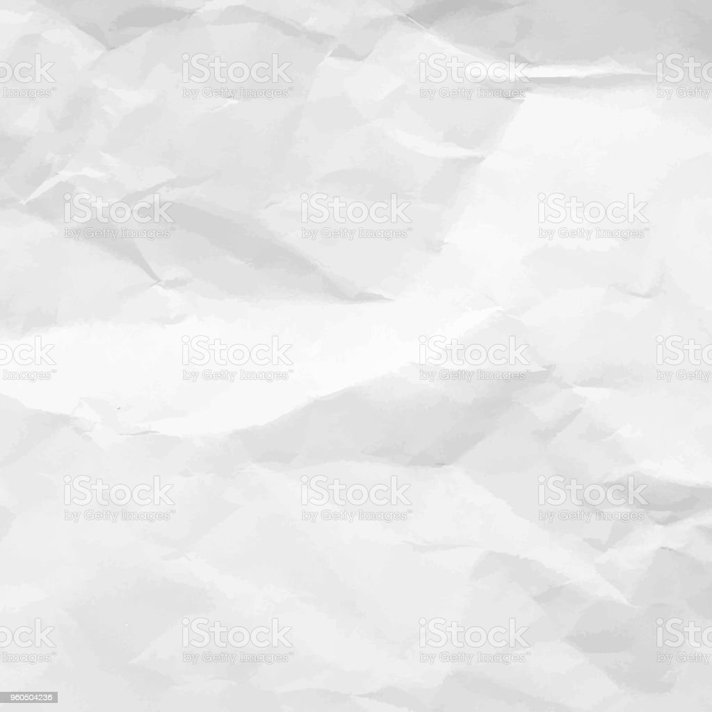 Crumpled Paper Texture. White empty leaf of crumpled paper. Torn surface of letter blank. Crumpled sheet of paper background for your design. Vector illustration royalty-free crumpled paper texture white empty leaf of crumpled paper torn surface of letter blank crumpled sheet of paper background for your design vector illustration stock illustration - download image now