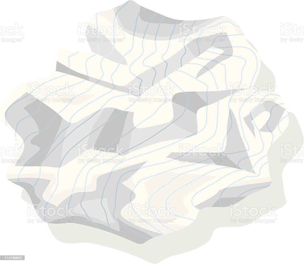 Crumpled Paper royalty-free stock vector art
