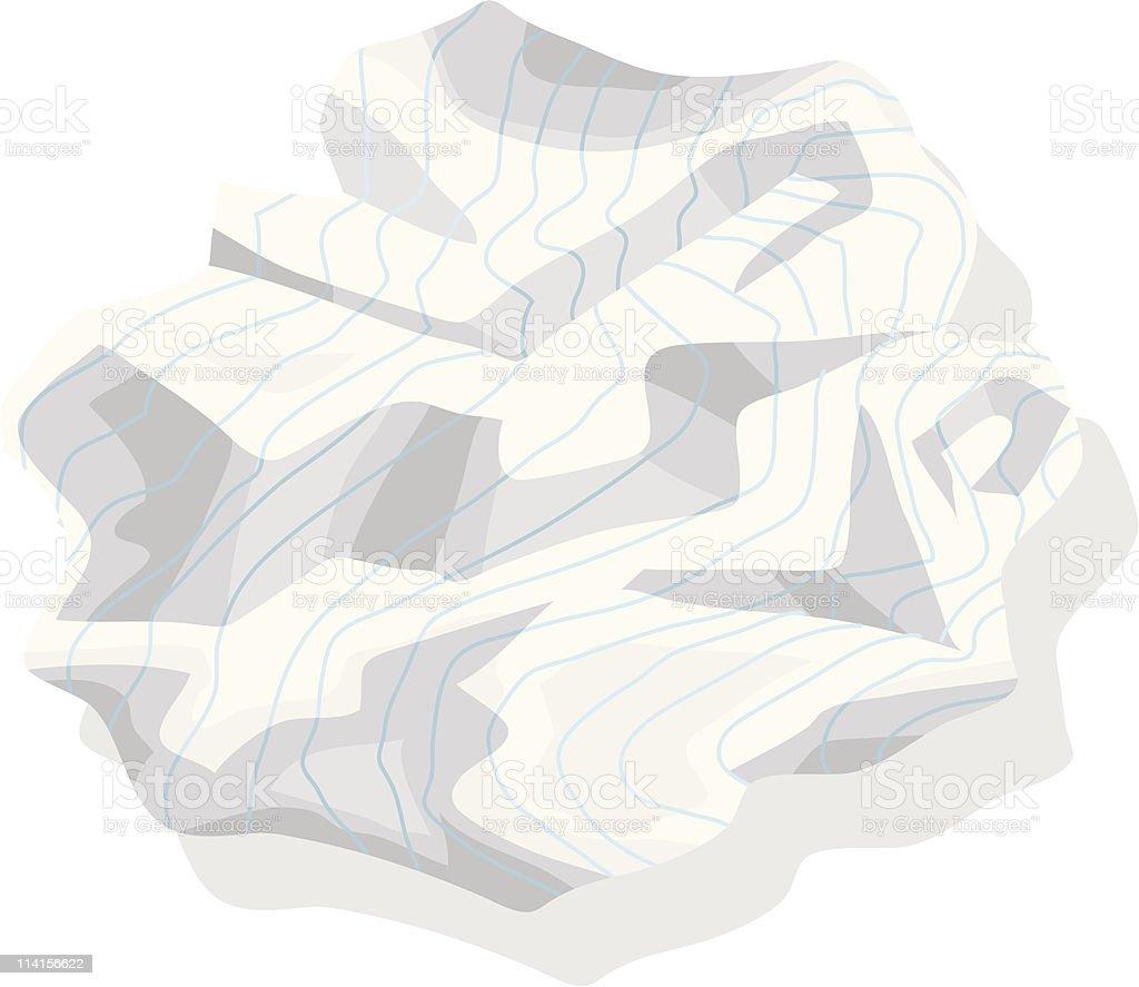 Crumpled Paper vector art illustration