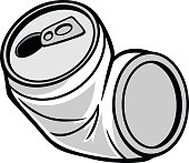 A vector illustration of a Crushed Can.