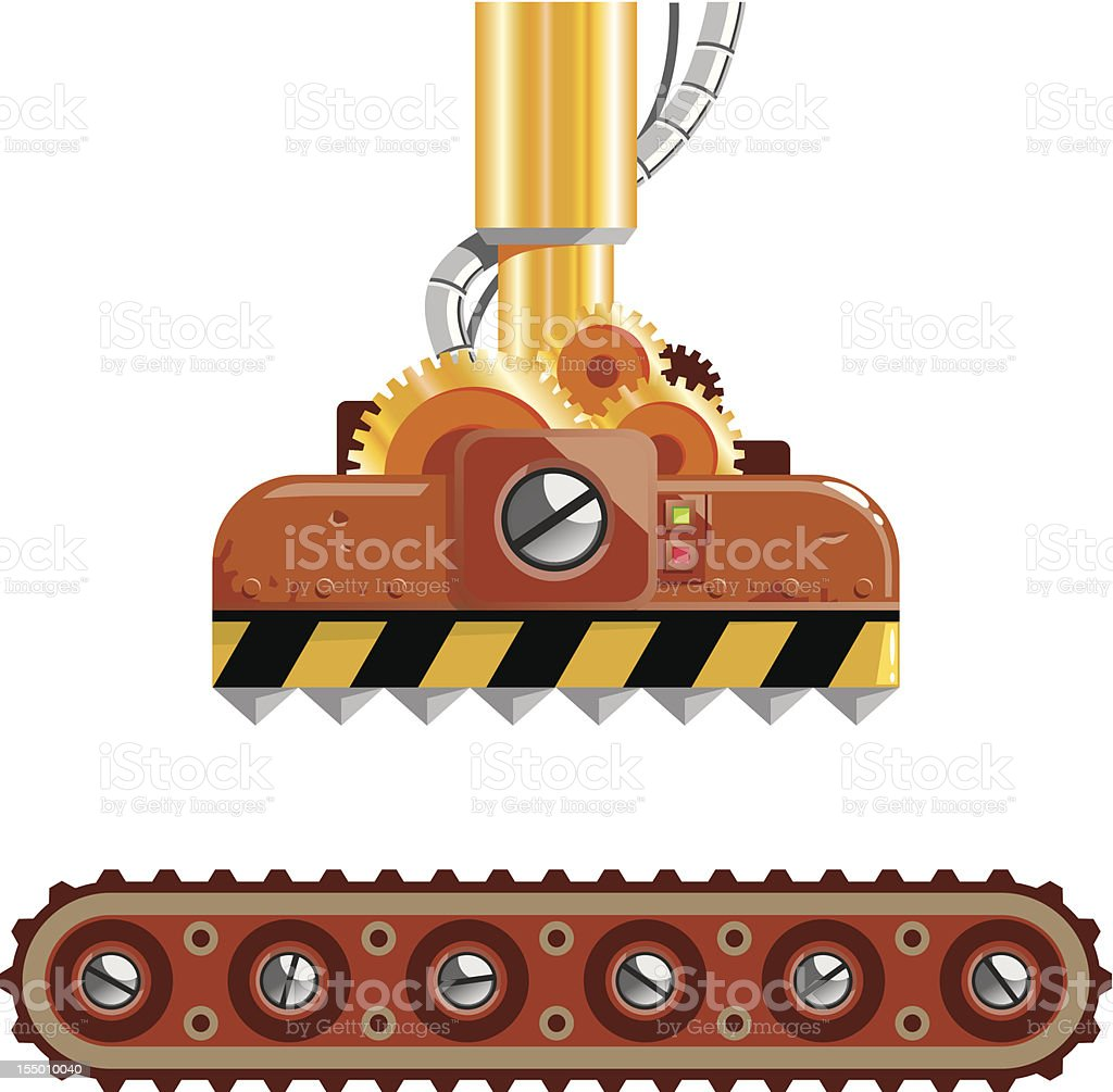 Crushing machine royalty-free stock vector art