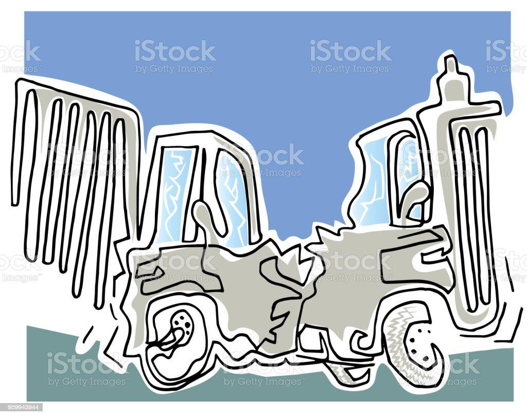 Araçlar kırma. vektör sanat illüstrasyonu