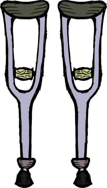 Muletas - ilustração de arte em vetor