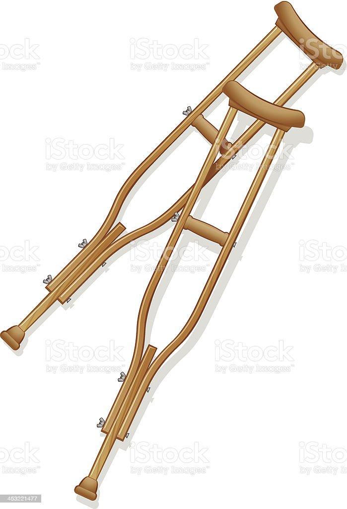 Crutches vector art illustration