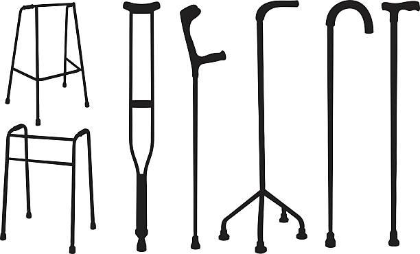 crutches - 杖点のイラスト素材/クリップアート素材/マンガ素材/アイコン素材