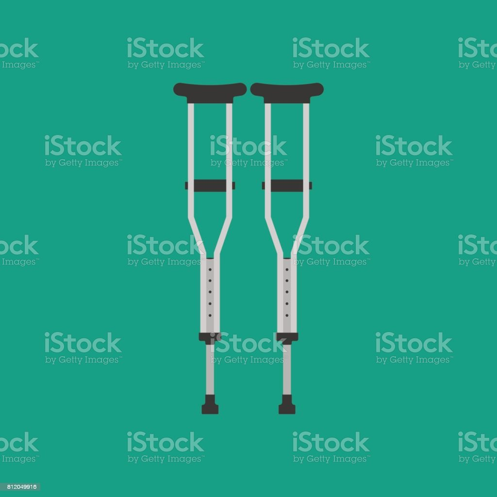 Crutches vector illustration vector art illustration