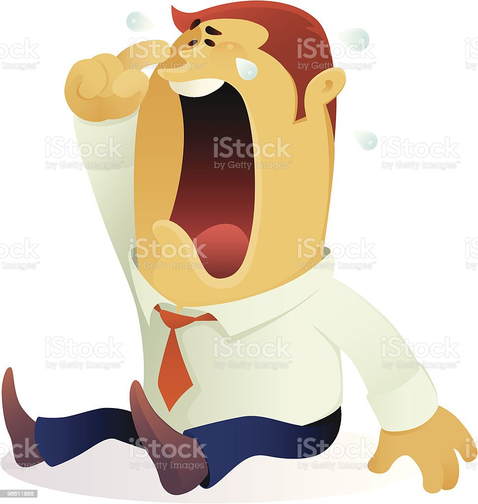 crying businessman - Royalty-free Adult stock vector