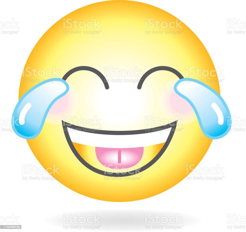 Pleurer Rire Emoji Ou Emoticone Icone Simple Vecteurs Libres De Droits Et Plus D Images Vectorielles De Art Istock