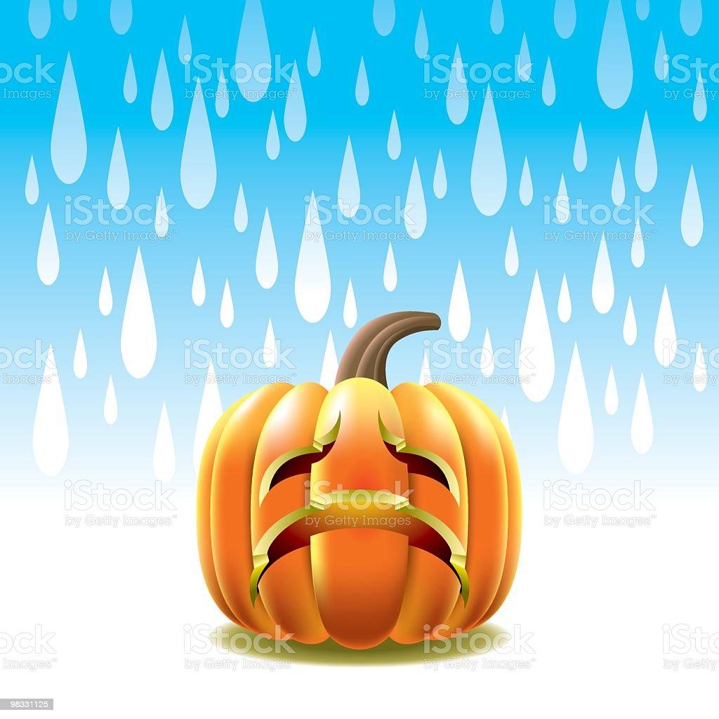 Crying Pumpkin royalty-free crying pumpkin stock vector art & more images of art