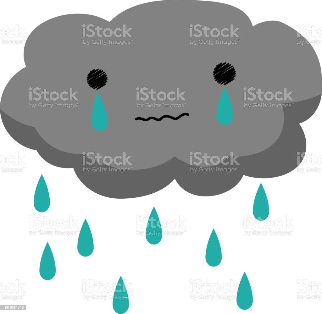 Crying rain cloud 2 royalty-free crying rain cloud 2 stock vector art & more images of art product