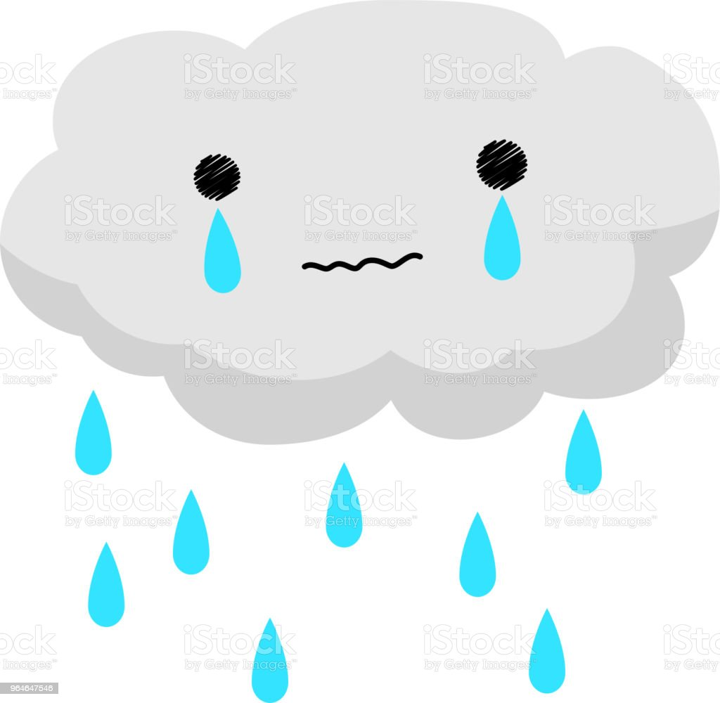 Crying rain cloud royalty-free crying rain cloud stock vector art & more images of art product