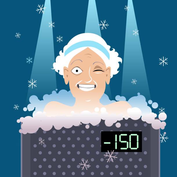 ilustraciones, imágenes clip art, dibujos animados e iconos de stock de crioterapia para personas mayores - medicina del deporte