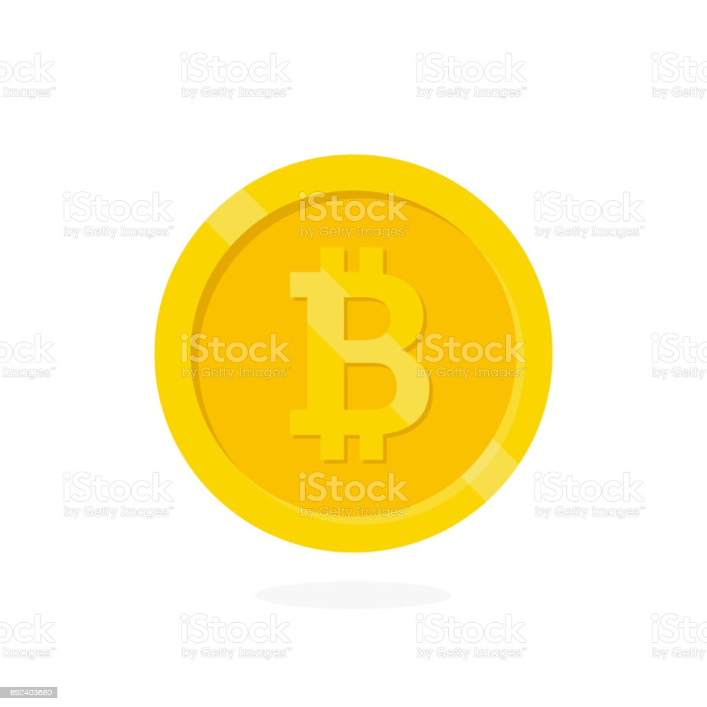 Crypto currency Bitcoin. vector art illustration