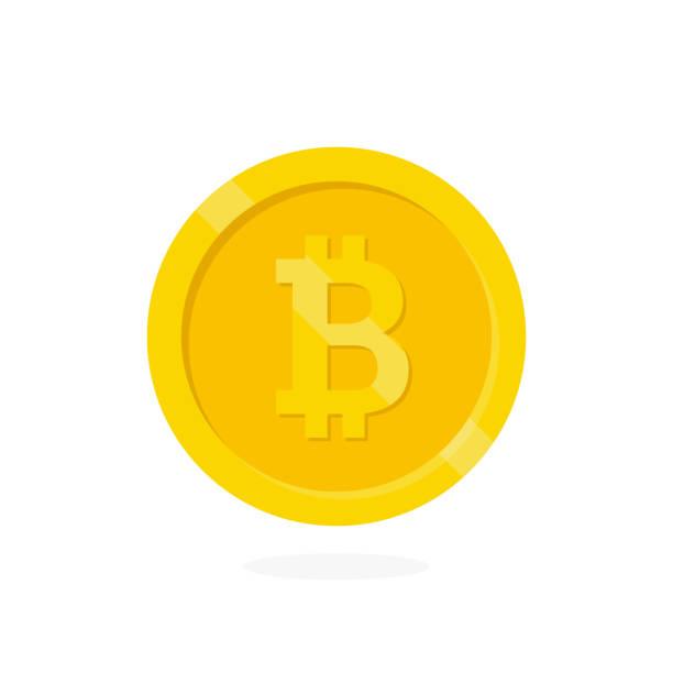 stockillustraties, clipart, cartoons en iconen met crypto valuta bitcoin. - bitcoin