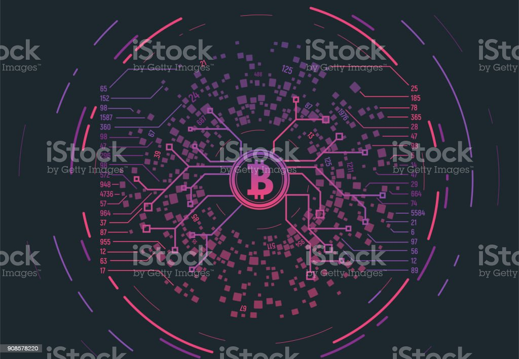 Crypto currency concept vector art illustration