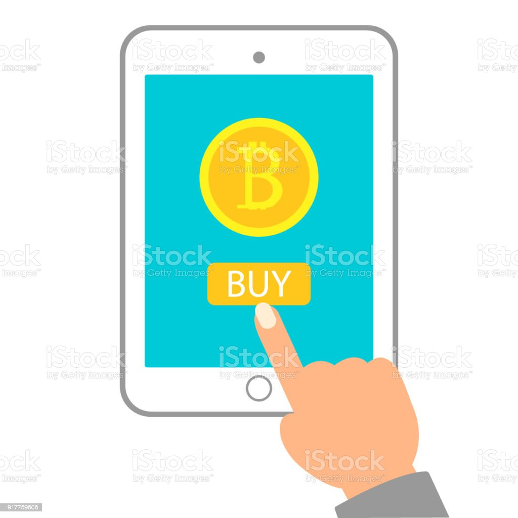 Krypto Währung Technologie Bitcoin Exchange Konzept Hand Mit