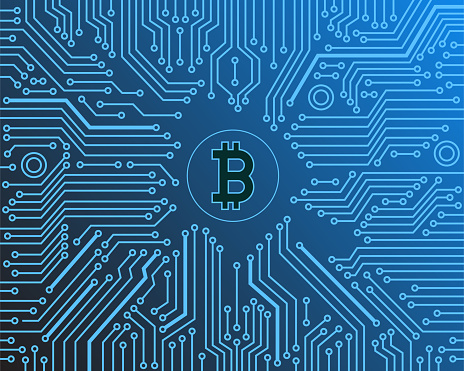 Crypto currency vector background