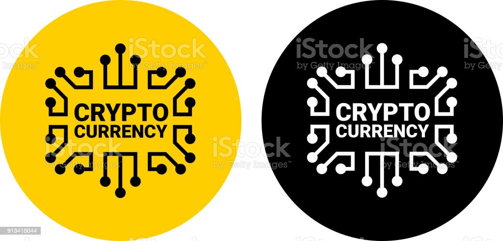 Crypto Currency. vector art illustration