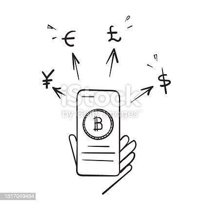 istock cryptocurrency and money exchange illustration vector isolated 1317049454