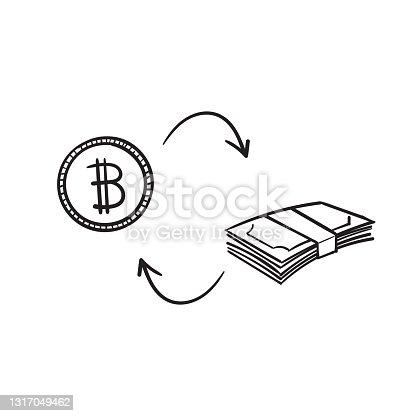 istock cryptocurrency and money exchange illustration vector isolated 1317049462