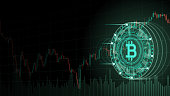 istock Cryptocurrency concept [Bitcoin and chart in virtual space] 946498122