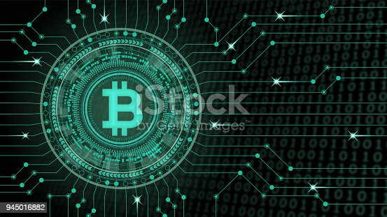 istock Cryptocurrency concept [Bitcoin in virtual space] 945016882