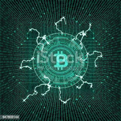 istock Cryptocurrency concept [Bitcoin in virtual space] 947803144