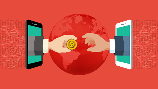 Cryptocurrency concept [Send money]