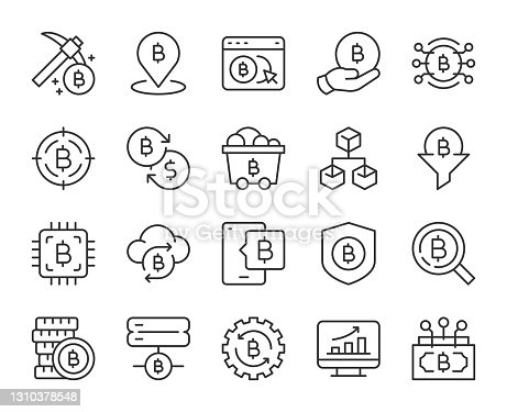 istock Cryptocurrency - Light Line Icons 1310378548