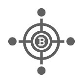 istock Cryptocurrency network icon / gray color 1263820172
