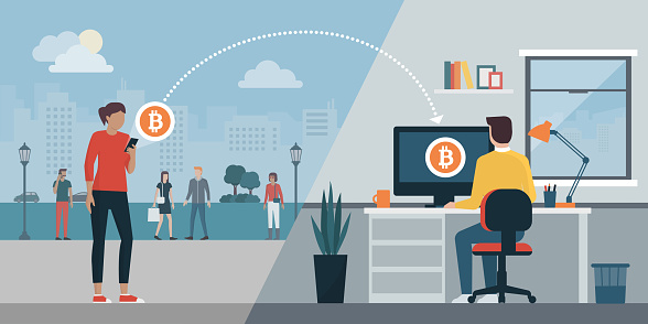 Cryptocurrency virtual transaction