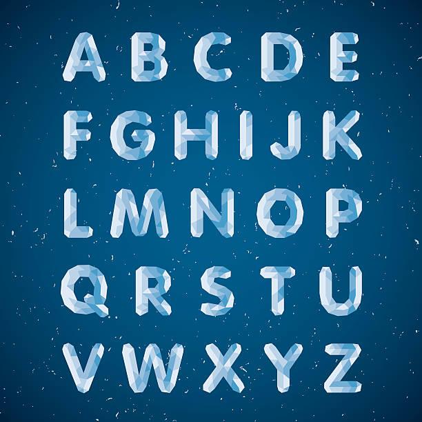 crystal alphabet - gefroren stock-grafiken, -clipart, -cartoons und -symbole
