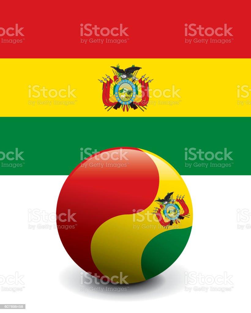 Crystal Ball Flag - Bolivia - ilustración de arte vectorial