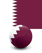 Crystal Ball Flag - Qatar