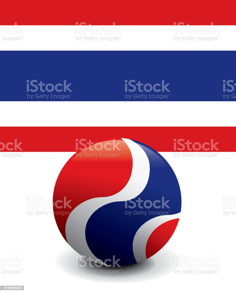 Crystal Ball Flag - Thailand – Vektorgrafik