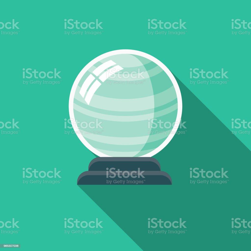 Boule de cristal Design plat icône de la fantaisie - clipart vectoriel de Antiquités libre de droits