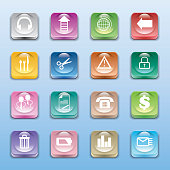 Vector Illustration : Crystal buttons