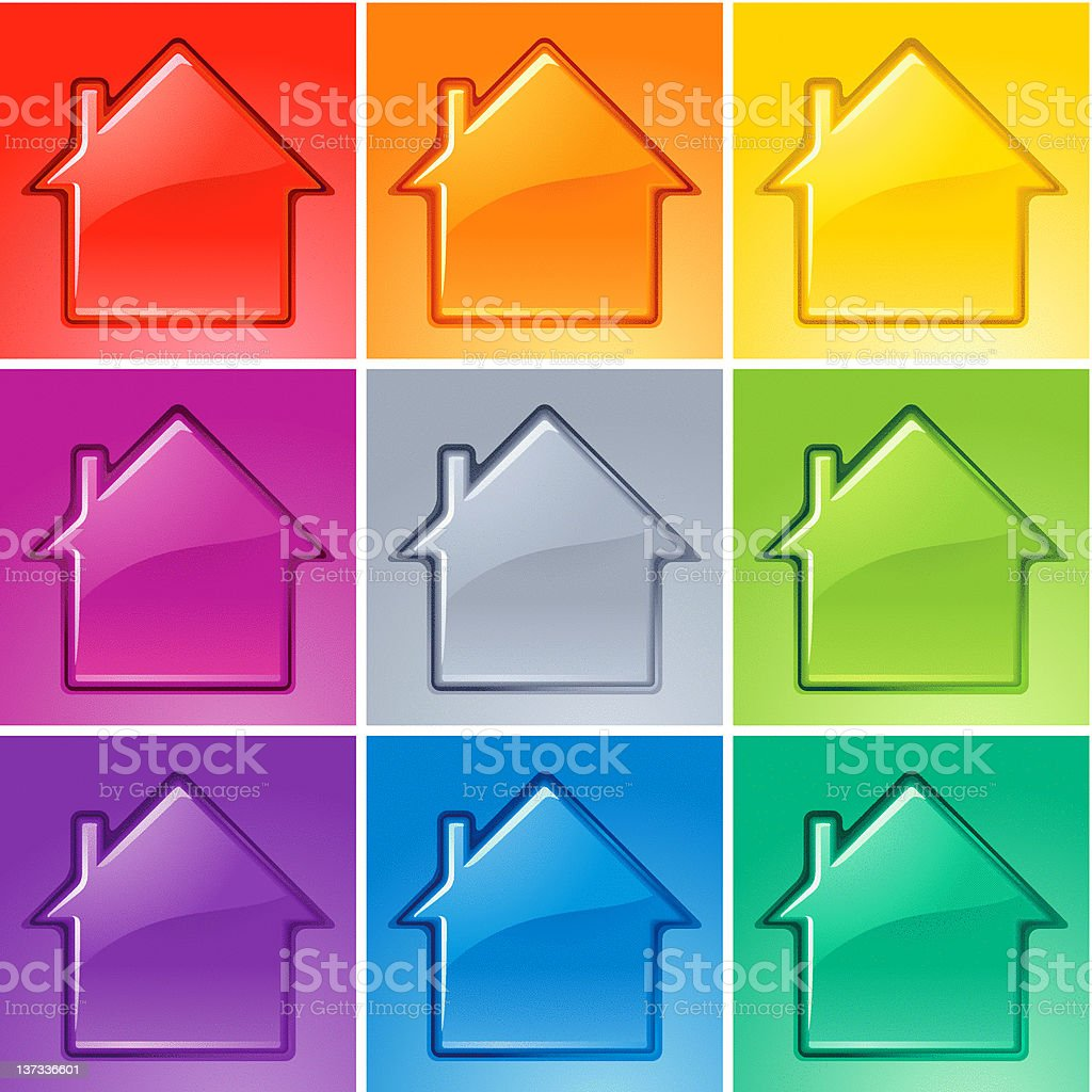 Crystal Clear House royalty-free stock vector art