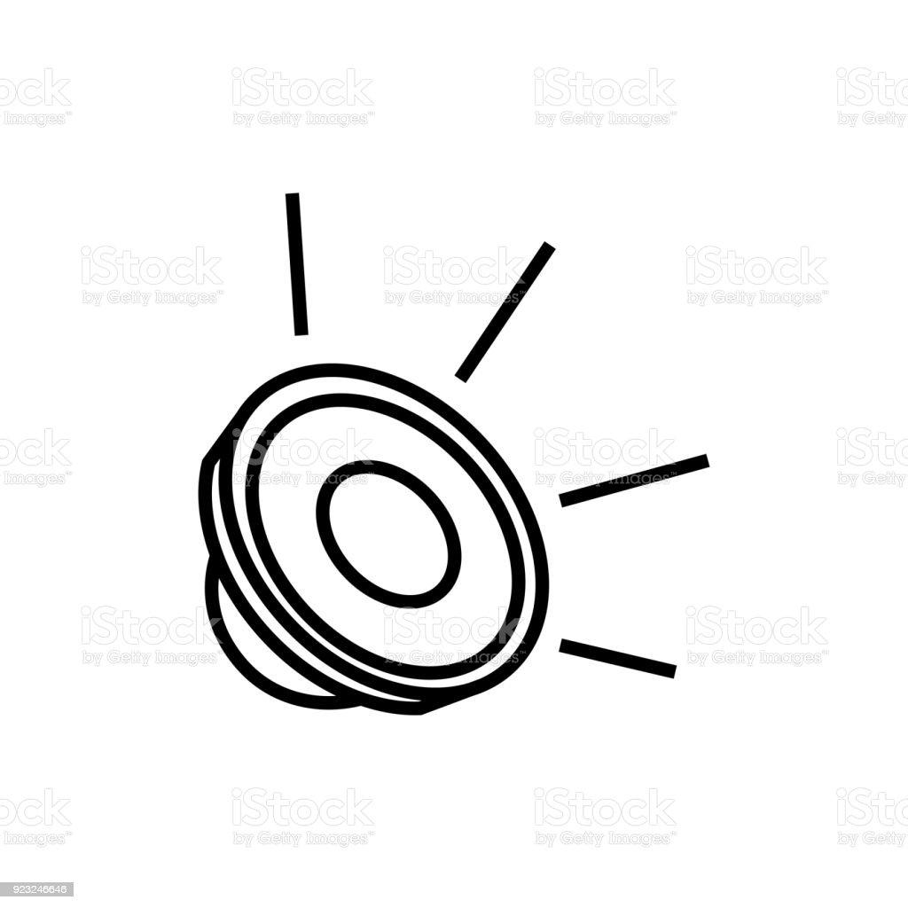 Kristallklaren Soundsymbol Lautsprechersymbol Vektorillustration ...