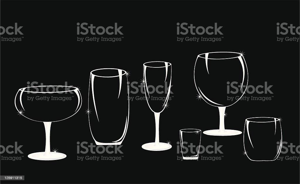 Crystal Glasses royalty-free stock vector art