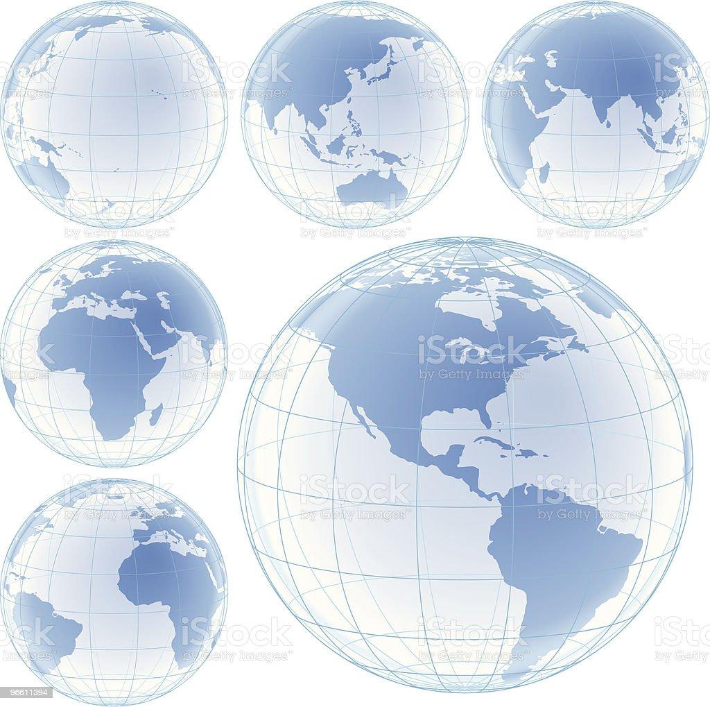 crystal globes set - Royaltyfri Afrika vektorgrafik