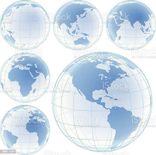 Crystal Globes Set-vektorgrafik och fler bilder på Afrika